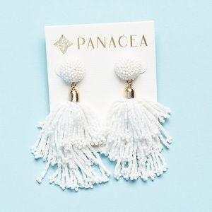 NWT Panacea Beaded Tassel Earrings
